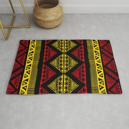Red, yellow a brown African Tribal batik design for home ornaments. Rug