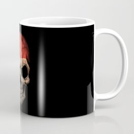 Dark Skull with Flag of Egypt Coffee Mug