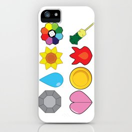 Kanto Gym Badges iPhone Case