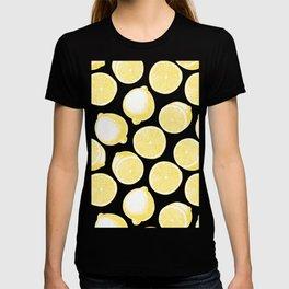 Hand drawn lemon pattern T-shirt