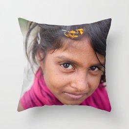 Slum Flower Throw Pillow