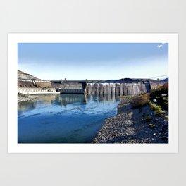 Grand Coulee Dam Art Print