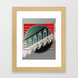 Stairway - red graphic Framed Art Print