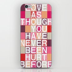 Love As Though iPhone Skin
