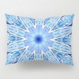 Thinking of You Blue Kaleidoscope Pillow Sham