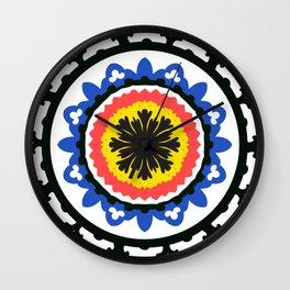 Bold and bright beauty of suzani patterns ver.9 Wall Clock