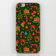 christmas x stitch pattern for the holiday mood iPhone Skin