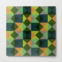 Oiwa - Colorful Green Decorative Abstract Art Pattern Metal Print