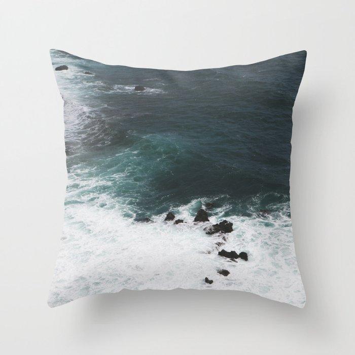 Indigo Coast Throw Pillow