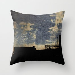 Industrial grunge Throw Pillow