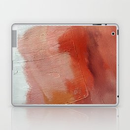 Desert Journey [1]: a textured, abstract piece in pinks, reds, and white by Alyssa Hamilton Art Laptop & iPad Skin