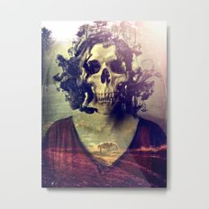 Miss Skull Metal Print