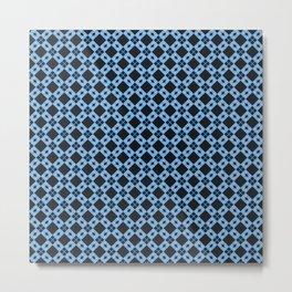 Some Call it the Blues Geometric Print Seamless Pattern Metal Print