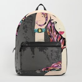 Punk Fashion Girl Backpack
