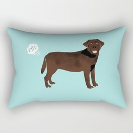 Chocolate Lab funny fart dog breed gifts labrador retrievers Rectangular Pillow