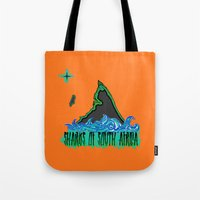 south africa Tote Bags featuring Sharks Of South Africa by Chefleclef
