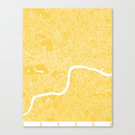London map yellow Canvas Print