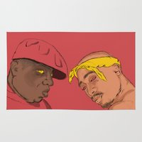 tupac Area & Throw Rugs featuring Resting Kings by Aybee Omari