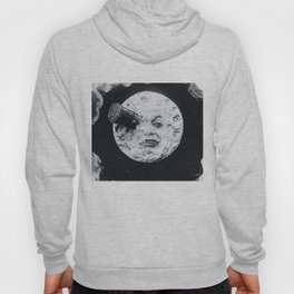 Vintage 1902 'Man in the Moon' B&W Photograph by Georges Méliès Hoody