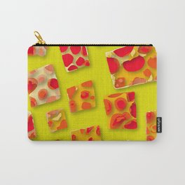 red spotted rectangles Carry-All Pouch