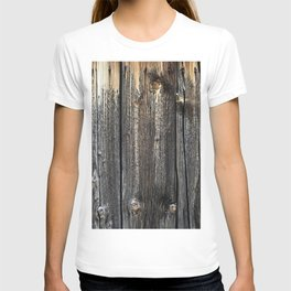 Old Weathered Wood Texture T-shirt