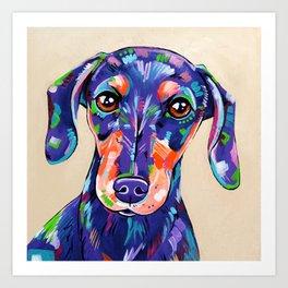Peanut - Daschund Sausage Dog Art Art Print