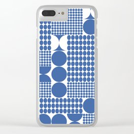 POTS OF SPOTS BLUE Clear iPhone Case