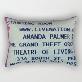 Amanda Palmer & the GTO: Standing Room Rectangular Pillow