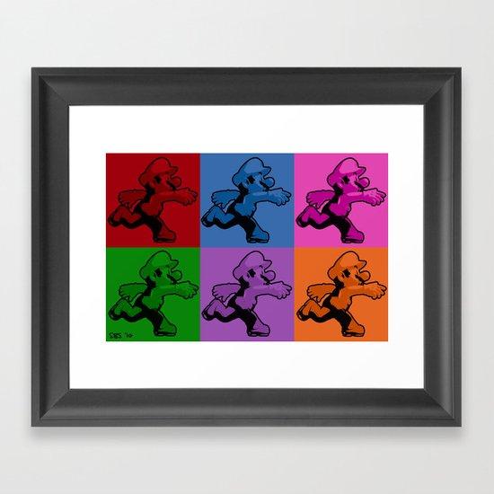 Warholian Mario Framed Art Print