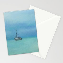 boat in Radical bay, original oil painting Stationery Cards