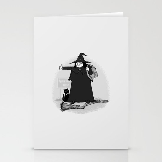 Witch Hiker Stationery Cards