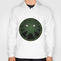 cthulu Hoodies featuring Cthulu Roundel by Hans Mills