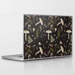 Mushroom pattern 1 black Laptop & iPad Skin