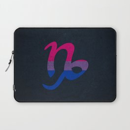 Bisexual Pride Flag Capricorn Zodiac Sign Laptop Sleeve