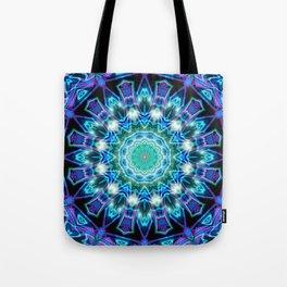 Purple Aqua Magical Mandala Tote Bag