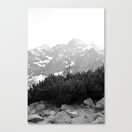 Tatry in Black and White Canvas Print