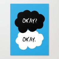 okay Canvas Prints featuring Okay by alboradas