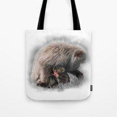Baby Snow Monkey Tote Bag