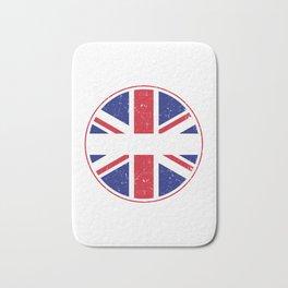 United Kingdom Flag Soccer Fan England Great Britian Bath Mat