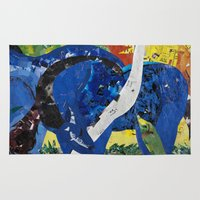 marc Area & Throw Rugs featuring franz marc tribute by zantelier