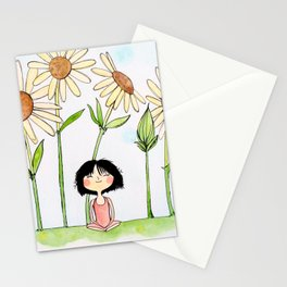 Among the Flowers Stationery Cards