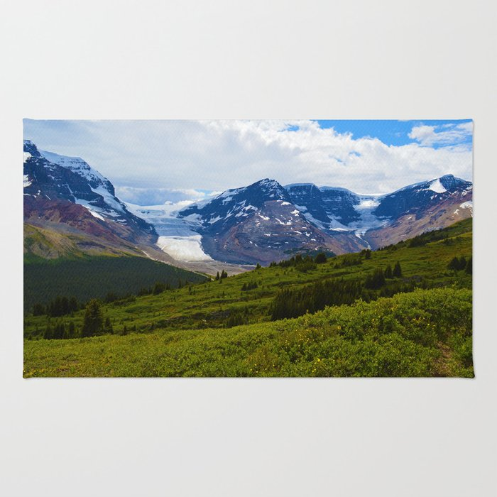 View along the Wilcox Pass Hike in Jasper National Park, Canada Rug