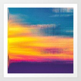 Glitch Glow Art Print