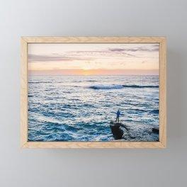 Looking out at La Jolla Shores Fine Art Print Framed Mini Art Print