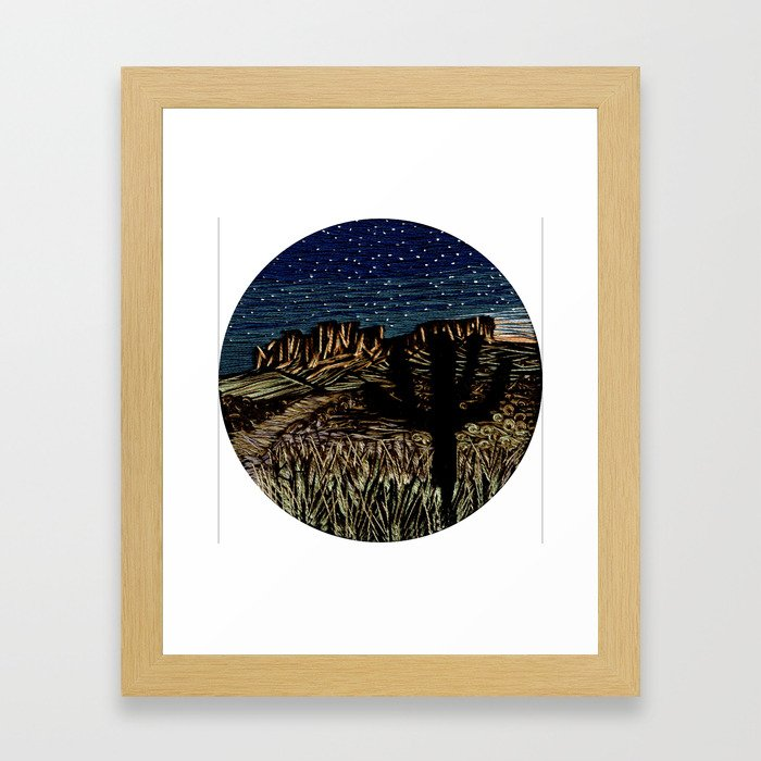 Desert New Moon Framed Art Print