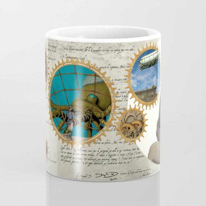Jules Verne, a Steampunk vision Coffee Mug