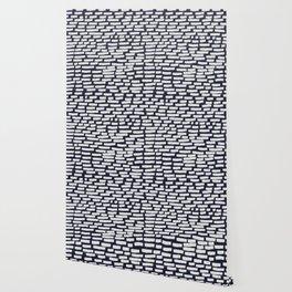 Light Grey Strokes on Dark Blue Wallpaper