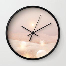 2077 landscape IV Wall Clock