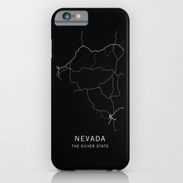 Nevada State Road Map iPhone Case