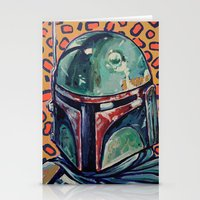 boba Stationery Cards featuring BOBA FETT by M. Ali Kahn